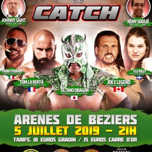 affiche festival international de catch 2019 Béziers Occitanie