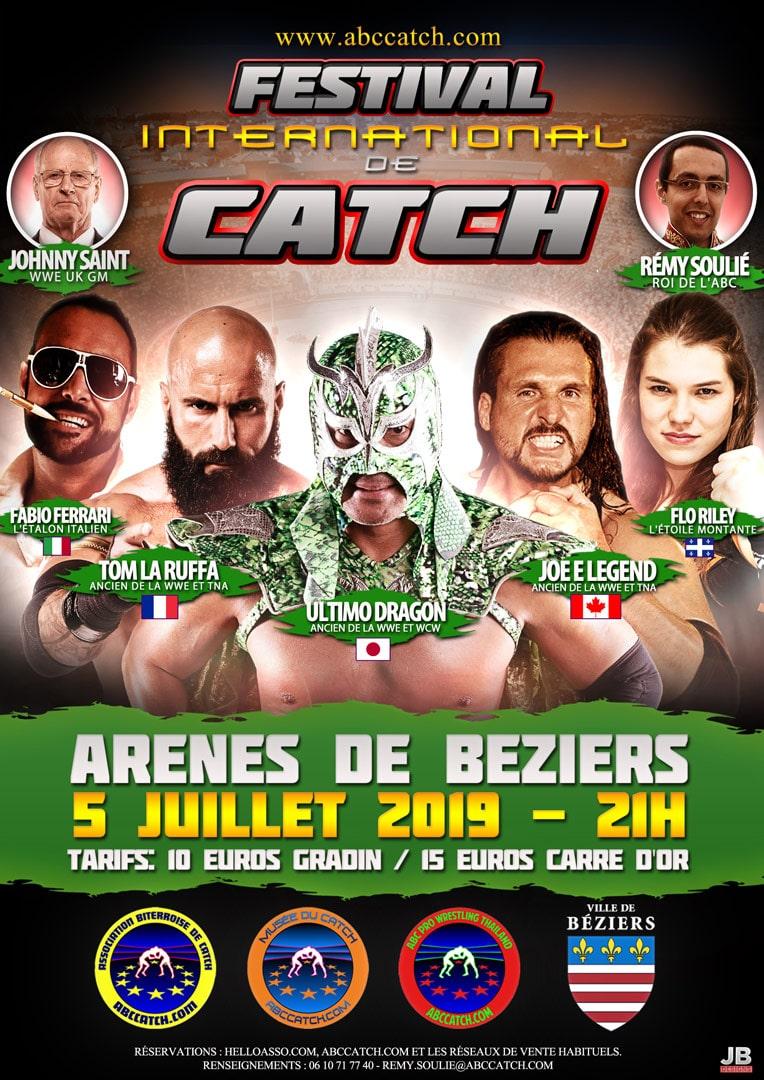 affiche festival international de catch 2019 Béziers Occitanie