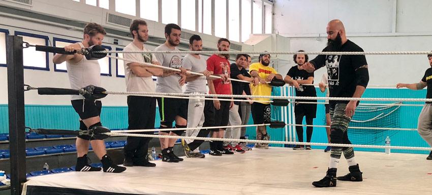 stage catch Occitanie Béziers gymnase avec tom la ruffa