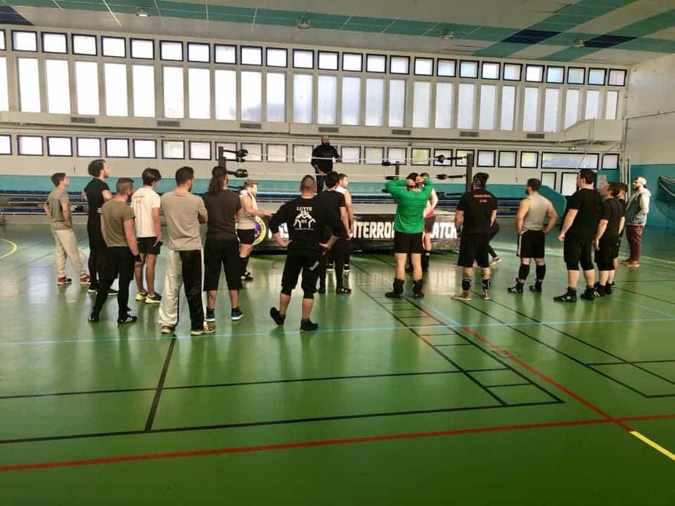 entrainement catch Occitanie Béziers gymnase