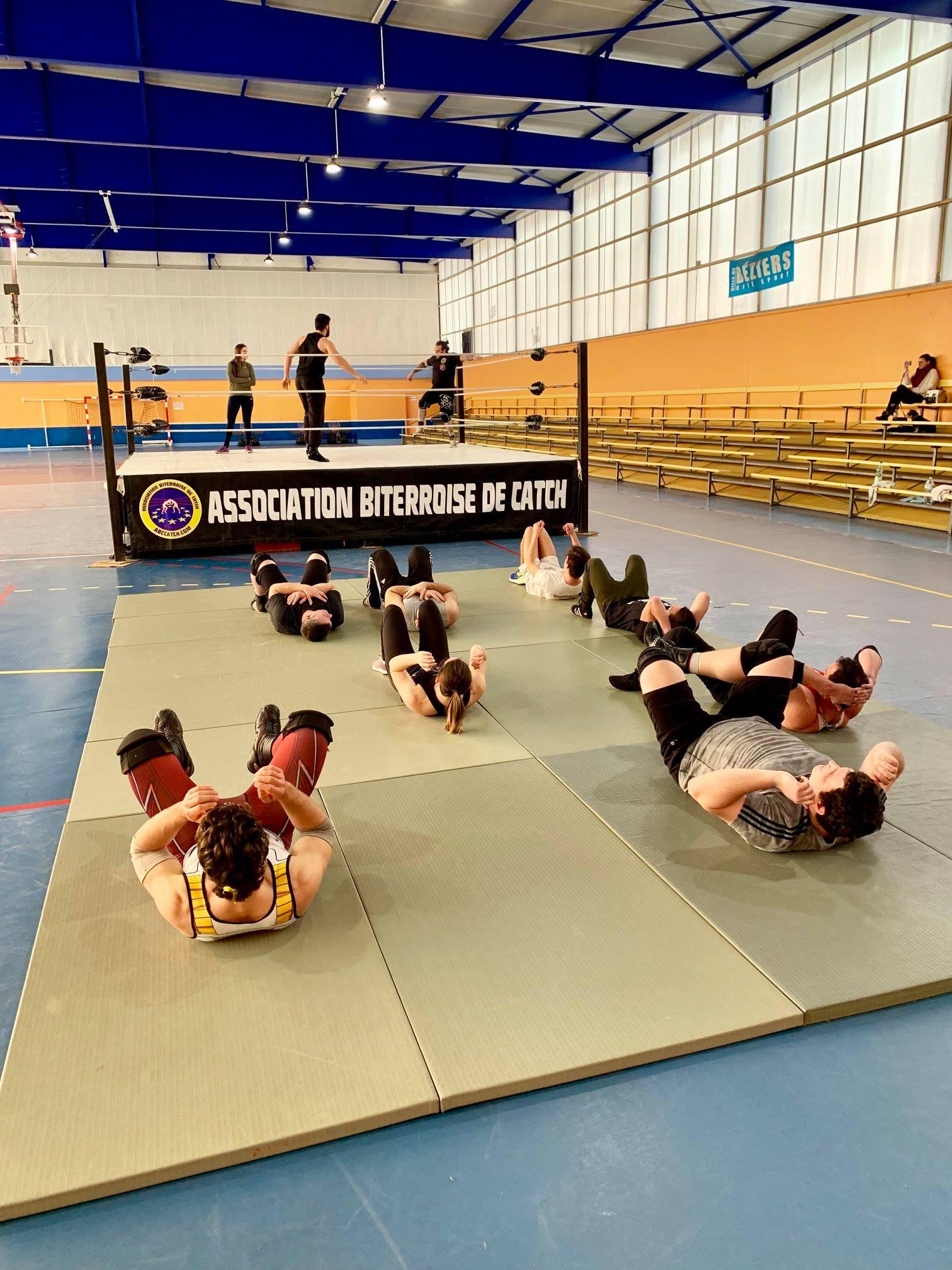 catch entrainement Béziers gymnase